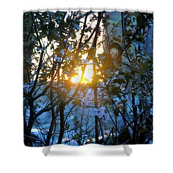 Urban Sunset Shower Curtain