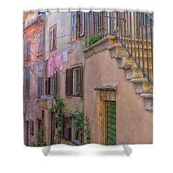 Urban View With Laundary Shower Curtain