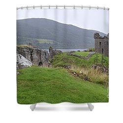 Urquhart Castle - Drumnadrochit Shower Curtain