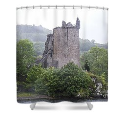 Urquhart Castle - Grant Tower Shower Curtain by Amy Fearn