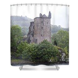 Urquhart Castle - Grant Tower Shower Curtain