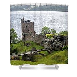 Urquhart Castle On Loch Ness Shower Curtain
