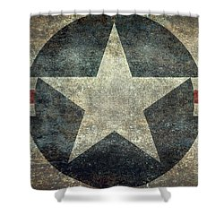 Us Air Force Roundel With Star Shower Curtain by Bruce Stanfield
