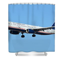 Us Airways Airbus A321-231 N567uw Shower Curtain by Brian Lockett