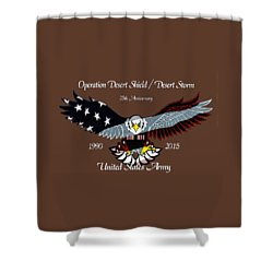 Us Army Desert Storm Shower Curtain by Bill Richards