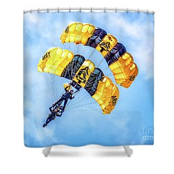 Shower Curtain featuring the photograph U.s. Army Golden Knights by Nick Zelinsky