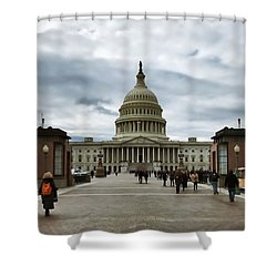 U.s. Capitol Building Shower Curtain