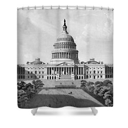 Us Capitol Building Shower Curtain by War Is Hell Store