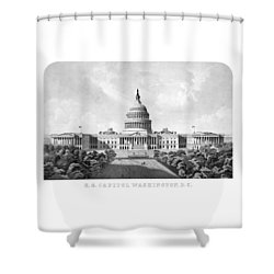 Us Capitol Building - Washington Dc Shower Curtain by War Is Hell Store