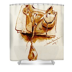 Us Cavalry Saddle 1869 Shower Curtain by Padre Art