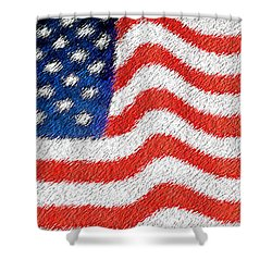 U.s. Flag Shower Curtain