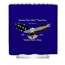 Us Navy Desert Storm Shower Curtain by Bill Richards