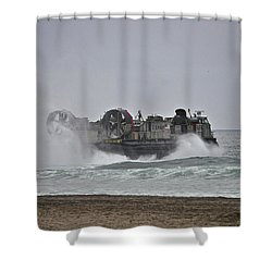 Us Navy Hovercraft Shower Curtain