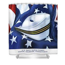 Shower Curtain featuring the painting U.s. Navy Nurse Corps by Marlyn Boyd