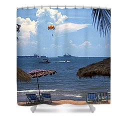 Us Navy Off Pattaya Shower Curtain