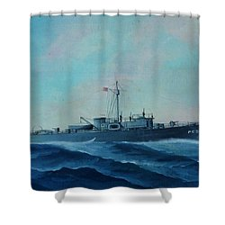 Us Navy Ship Pc577 Shower Curtain