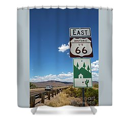 Us Route 66 Sign Arizona Shower Curtain