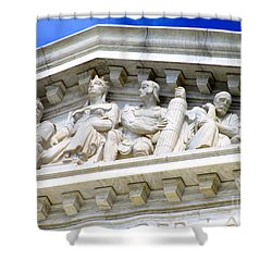 Us Supreme Court 4 Shower Curtain by Randall Weidner