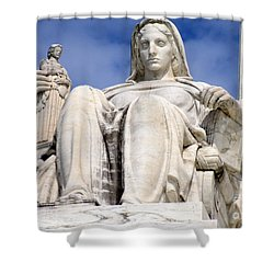 Us Supreme Court 7 Shower Curtain by Randall Weidner