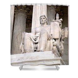 Us Supreme Court 8 Shower Curtain by Randall Weidner