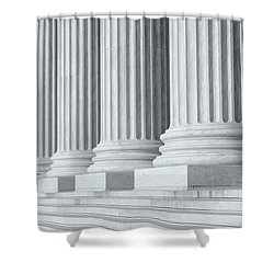 Us Supreme Court Building Iv Shower Curtain by Clarence Holmes
