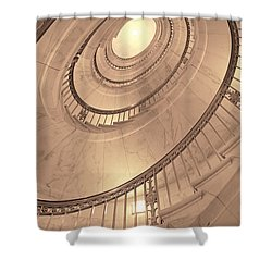 U. S. Supreme Court Oval Stairway Shower Curtain