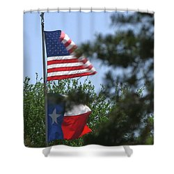 Usa Blesses Texas Shower Curtain