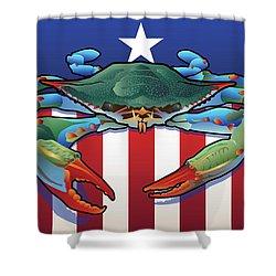 Usa Blue Crab Shower Curtain
