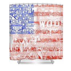 Usa Flag 1 Shower Curtain
