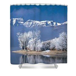Usa, Utah, Deer Creek State Park Shower Curtain by Panoramic Images