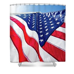 Usa,american Flag,rhe Symbolic Of Liberty,freedom,patriotic,hono Shower Curtain