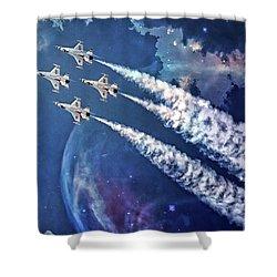 Usaf Thunderbirds Diamond Formation Shower Curtain