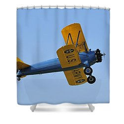 U.s.army Biplane Shower Curtain by David Lee Thompson