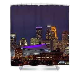 Usbank Stadium Dressed In Purple Shower Curtain