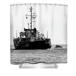 White Portugeuse Shower Curtain by Randy J Heath