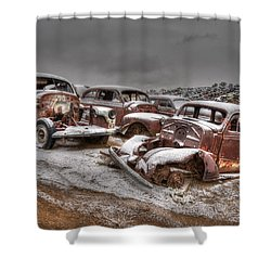 Used Up Shower Curtain