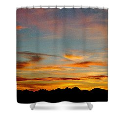 Usery Sunset Shower Curtain