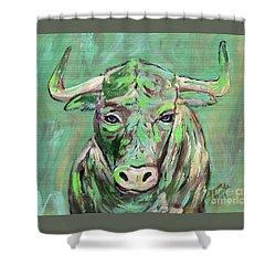 Usf Bull Shower Curtain by Jeanne Forsythe