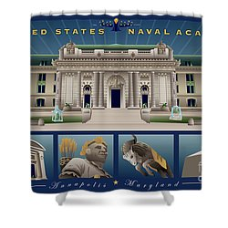 Usna Monuments Tribute 2 Shower Curtain