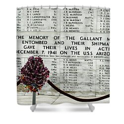 U.s.s. Arizona Memorial Shower Curtain