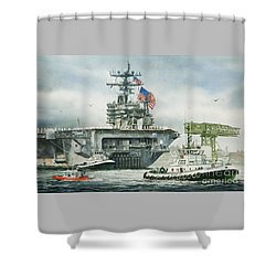 Uss Carl Vinson Shower Curtain by James Williamson