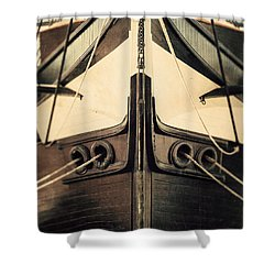 Uss Constellation Shower Curtain by Lisa Russo