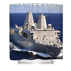 Uss Green Bay Transits The Indian Ocean Shower Curtain by Stocktrek Images