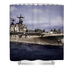 Uss Iwo Jima Lph2 Shower Curtain