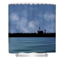 Uss Kitty Hawk 1955 V1 Shower Curtain