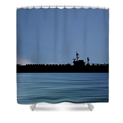 Uss Kitty Hawk 1955 V4 Shower Curtain