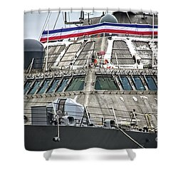 Uss Little Rock Lcs 9 Shower Curtain