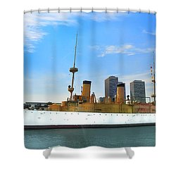 Uss Olympia Shower Curtain by Bill Cannon