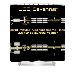Uss Savannah Profile Shower Curtain by David Robinson