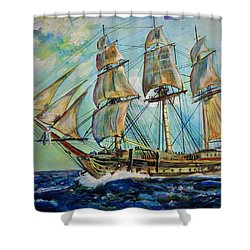 Uss United States Shower Curtain